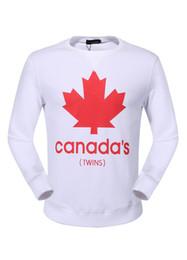 Wholesale Mens Fashion Jacket Slim - 2017 New Arrived Men's Pullover Length Sleeve Hoodies Sweatshirts DSQ2 Jacket Print Leaves Hoody Mens Sportwear Outwear 18962