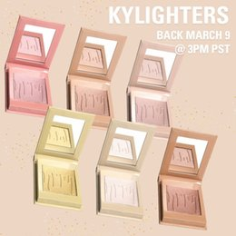 Wholesale French Wear - 2017 Kylighter Kylie Highlighters Kylie Cosmetics Strawberry Shortcake Candy Cream Salted Caramel Banana Split Kylighter French Vanilla