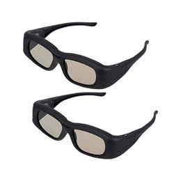 Wholesale universal 3d glasses - Wholesale- 2 X Universal 3D Active Shutter Glasses (Bluetooth) For Sony Panasonic Sharp Toshiba Mitsubishi Samsung 3DTV