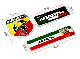 Wholesale Abarth Badge - 60*57mm abarth sticker 80*30mm 100*27mm abarth Labeling Car Aluminum Alloy Badge Sticker Emblem Decal For Seat leon ibiza altea