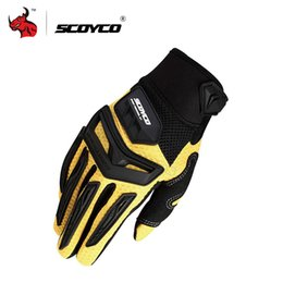 Wholesale Enduro Dirt Bike - Wholesale- SCOYCO Motorcycle Motorbike Enduro Dirt Bike Riding Gloves Motorcross Off-Road Racing Gloves Rubber Protection Breathable Gloves