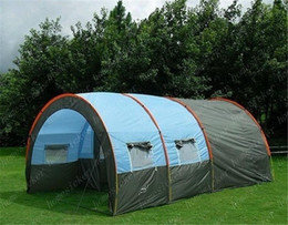 Wholesale Single Person Beach Tent - Sell like hot cakes is suing the 5~10 Persons Family Camping Hiking Party Large Tents 2 Room 1 Hall Waterproof Tunnel Tent Event Tents Beach