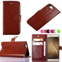 Wholesale Iphone 5c Flip Case Cover - Vintage Wallet Flip PU Leather Case Cover Pouch With Card Slot Photo Frame for iphone7 7plus 6 6splus 5S SE 5C Huawei P8 Lite P9 lite