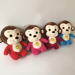 Wholesale Skin Birthday Gift - 20 cm smiling baby monkey girl friend gift skin cute animal decorative birthday party doll plush toys