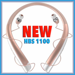 Wholesale Bluetooth Headset Display - HBS1100 Bluetooth Headset Telescopic Headphones Support Music Voice Control Call Function NFC Function Power Display