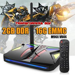 Wholesale Internet Tv Google Player Wifi - Android 7.1 M96X Smart TV Box Amlogic S905X Quad Core 2GB RAM Wifi 4K Media Player 100M internet tv boxes