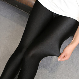 Wholesale Corduroy Pants For Women - Fashion Hot Sale 2016 Women High Waist Stretch Skinny Shiny Nine Pants Slim Fit Leggings for women q0425