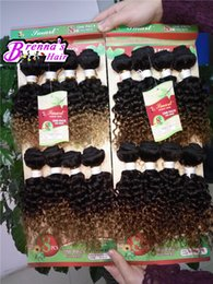 Wholesale afro curly hair for weaving - Cheap price human Kinky Curly Hair 8pcs pack Eunice Hair Mongolian Afro ombre weaves Unprocessed Curly hair human bundles for black women
