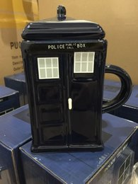 Wholesale Square Ceramic Cup - Creative Gift Doctor Who Figural Tardis Porcelain Square Mug Coffee Cup with Covered and Spoon Police Box Shape (7)
