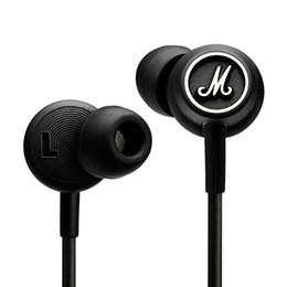 2019 trasduttore auricolare nero dell'orecchio di 3.5mm Marshall MODE Cuffie Auricolari In Ear Auricolari Nero Con Microfono HiFi Auricolari Cuffie Universali Per Telefoni Cellulari VS Marshall Major sconti trasduttore auricolare nero dell'orecchio di 3.5mm