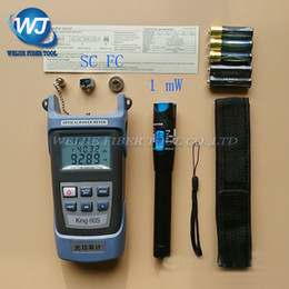 Wholesale Pen King - Wholesale- 2 In 1 FTTH Fiber Optic Tool Kit King-60S Optical Power Meter -50 to +20dBm and 1mW Visual Fault Locator Fiber optic test pen