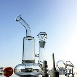 Wholesale stands glasses - Buoy Base Glass Water Bongs Dab Rigs With Tornado Perc Cyclone Percs Water Pipes Stand 10 Inch Glass Bong 18.8mm Joint WP146