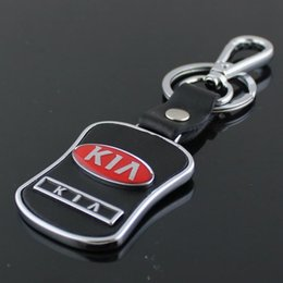 Wholesale Kia Keyring - Whosale 5PCS Lot Fashion Car Auto Logo Keychain Keyring Pendant Trinket for KIA K5 K2 K3 Car Accessories Styling