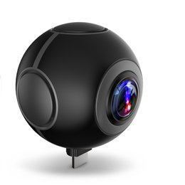 Wholesale Oppo Mini - Newest 360 Air 3K HD 360 Camera Dual Lens Panoramic Camera Compact Mini VR Camera for OPPO Huawei LG Andriod Smartphones