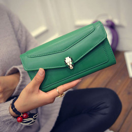 Wholesale Beautiful Women Photos - Wholesale- 2017 Women Long Purse Wallets Fashion Clutch Purses Coin Purses Beautiful Women's Hasp Card Holder ST0808 Green