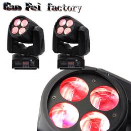 Wholesale Pro Stage Lighting - 2 Pcs lot 4*10W DMX LED Beam Moving Head spot light Mini Stage Lighting Effect Disco Party DJ Pro Projector