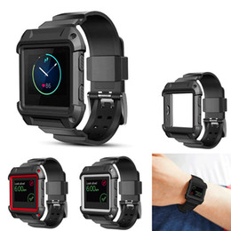 Wholesale Shockproof Watches - For Fitbit Blaze Band [Integrated] [Silicone Band and Case] [Shockproof] Protective Strap Band for Apple Iwatch Series 1 & Series 2