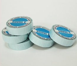Wholesale Hair Lace Wig Glue - 3pcs lot Bule tape roll hair extension tape lace wig glue super tapes for hair extension human adhesive double -sided tape for wig