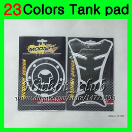 Honda cbr tanque de gás on-line-23 cores 3d protetor de almofada de tanque de gás de fibra de carbono para honda cbr600rr 03 04 05 06 CBR600 RR CBR 600 RR 2003 2004 2005 2006 3D Tanque Etiqueta Do Tanque