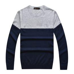 Wholesale Billionaire Italian Couture - Wholesale- Billionaire italian couture sweater men's clothing color block decoration fashion comfortable gentleman free shipping
