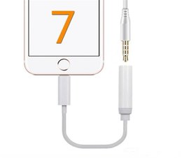 Wholesale Hdmi Audio Jack - High quality Earphone Headphone Jack Adapter Converter Cable Lighting to 3.5mm Audio Aux Connector Adapter Cord for iPhone7 support IOS10.3