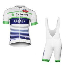 Wholesale Bib Short Mtb - 2017 tour de france pro team fortuneo oscaro white cycling jersey bib short summer quick dry bike cloth MTB Ropa Ciclismo Bicycle maillot