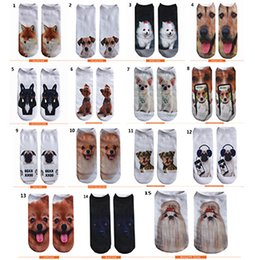 Wholesale Man Hosiery - 2017 Hot Socks For Men Fashion Funny Dogs 3D Printing Sock Calcetines Hosiery Animal Shapes Socks Free Shipping