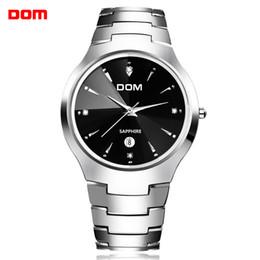 Wholesale Dom Tungsten - Men watch sport Luxury Top DOM Brand tungsten steel Wrist 30m waterproof Business Quartz watches Fashion Casual Wristwatch