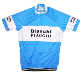 Wholesale Vintage Cycling Team - 2018 Team PIAGGIO RETRO VINTAGE cycling Jersey breathable cycling jerseys Short sleeve summer quick dry cloth MTB Ropa Ciclismo B54