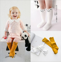 Wholesale Girls Size Socks - Hot selling baby kids socks new arrivals Boy Girls Stereo bear sock children's cotton Medium socks size 0-3T