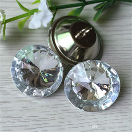 Wholesale Sew Buttons 25mm - Clear 20MM 25MM 30MM Satellite Crystal Glass Buttons Sofa Buttonss Sewing Button Upholstery Buttons Shinning Free DHL XL-A74