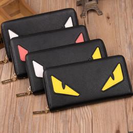 Wholesale ladies wallets wholesale - New designer wallet famous brand women wallet and purse clutch leather devil eyes wallet ladies Famous Brand purse