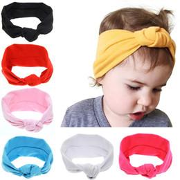 Argentina Bebé recién nacido niñas anudadas cruz elástico vendas niños niños turbante Hairbands Headwear niños accesorios para el cabello envío gratis KHA21 Suministro