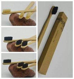 Wholesale Tooth Brush Kits - Personalized Bamboo Toothbrushes Tongue Cleaner Denture Teeth Travel Kit Tooth Brush Made in China CCA7041 500pcs