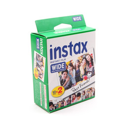 Wholesale Instax Camera Film - High Quality Instax Mini Instant Film White Wide 20 Sheets For Instax Camera 300 200 210 100 500AF