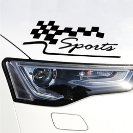 Wholesale Mirror Garlands - Car And Motorcycle Decals Car Styling Personalized Reflective Garland Decorated Sport Race Flag Car Stickers JDM