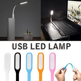 Wholesale Table Lamps Wholesalers China - NEW 2017 Flexible Portable Mini USB Port LED Night Light Glow Bright Reading Table Lamp For Power Bank Computer Nightlight Free Shipping