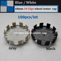Wholesale Base Claws - Hot selling blue white color 68mm 10PINS CLAW Gray base for E60 E90 F10 F30 F15 E63 E64 E65 E86 Wheel Hub Emblem Cover Cap ABS Aluminum