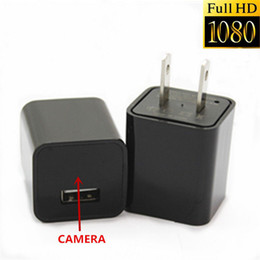 Wholesale Usb Spy Cam 8gb - 1920*1080P Spy AC Adapter Hidden Camera 8GB USB Phone Charger Camera Full HD AC Adapter Video Recorder USB Spy Cam Plug Free Shipping