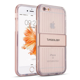 Wholesale Casing Iphone 4s Transparent - For iPhone 7 Caseology Clear TPU + Hard PC hybrid Back Cover Armor Transparent Protector for 7+ 6s 6plus 5s SE 4s Samsung S7 Edge J510 2016