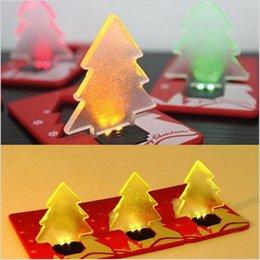 Cartão de natal portátil on-line-Diodo emissor de luz de cartão de crédito portátil levou lâmpada de bolso, cartão de árvore de Natal interruptor de cartão de crédito afiada lâmpada
