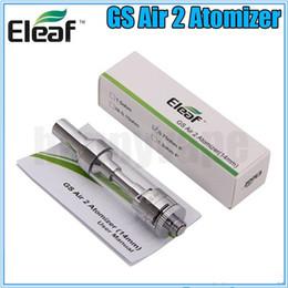 Wholesale E Pure - 100% Original Eleaf GS Air 2 atomizer Pure Cotton 0.75ohm Head Coil best e cigarette tank gift for CHristmas