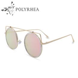 Wholesale Glass Mirror Coating - Classic Round Sunglasses luxury Women Brand Designer Coating Sun glasses UV Mirror Sport Vintage Sunglasses With Box And Cases