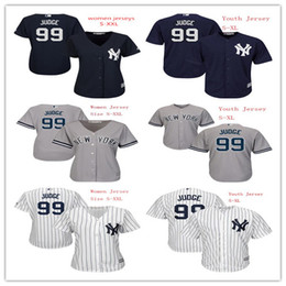 Canada Aaron Judge Jersey 99 Jeunes Femmes New York Yankees Baseball Jerseys Ladies Kids Boys Coolbase Accueil White Stripes Road Gris Bleu foncé new jersey woman for sale Offre
