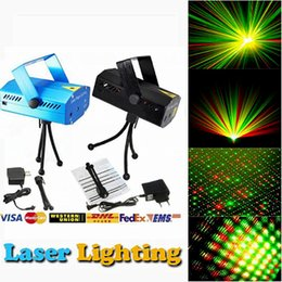 Wholesale Stage Light Wholesaler - DHL Free Hot Black Mini Projector Red &Green DJ Disco Light Stage Xmas Party Laser Lighting Show, LD-BK