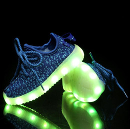 Wholesale Shoes Kids 24 - led light up shoes for kids light up shoes light up sneakers glow sneakers size 24 to 34 for kids USB recharge