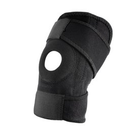 Wholesale Wholesale Neoprene Elbow Pad - Wholesale- Adjustable Strap Elastic Patella Sports Support Brace Black Neoprene Knee free shipping