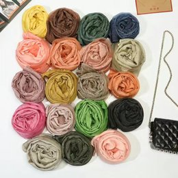 Wholesale Christmas Shawl For Girls - 90cm*200cm 2017 Silk scarf and wool cashmere for women's ladies and girl as christmas gift 2017