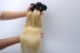 Sarışın Brezilyalı Bakire Saç Ipek Düz ombre 1b / 613 # Sarışın Brezilyalı Saç 3 Paket Fırsatlar Işlenmemiş Bakire Insan Saçı Sarışın Örgü cheap blonde ombre virgin hair nereden sarışın ombre bakire saç tedarikçiler