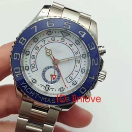 Wholesale Rubies Watch - Sweep Hand Luxury Brand Self Wind Mechanical Yellow Gold Stainless Steel Master Ceramic Automatic Watch Mens Chronograph Watches 2017